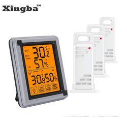 XINGBA Indoor Outdoor Thermometer Digital Wireless Hygrometer Humidity Gauge Temperature Monitor