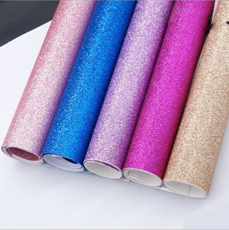 Processing custom-adhesive pearlescent cloth Glitter self-adhesive glitter wallpaper gold onion wallpaper for gold powder cloth