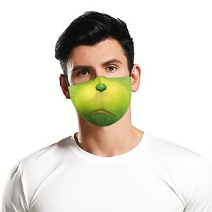 Amazon Alle Voor Gezondheid Geen Minimum Facemask Party 100% Polyester Goedkope Rfoldable Etail Party Kerst Facemasks