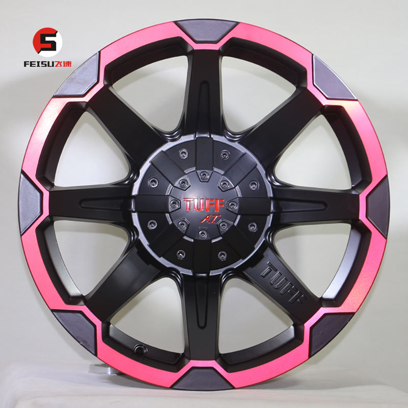 17*8J 6*139.7 ET0 offroad refitting hub for pickup truck Tuff famous high quality 4*4 alloy wheels