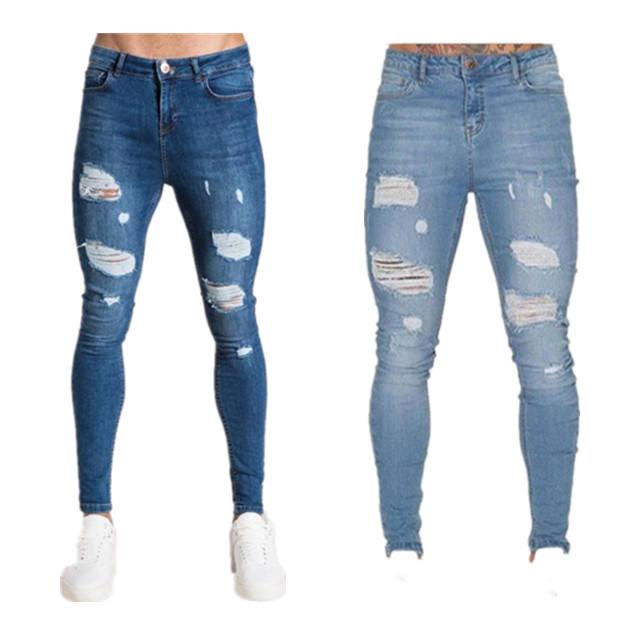 Joe Wenko Boys Slim Fit Comfy Washed Denim Pants Elastic Waist Jeas