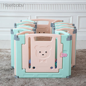 Indoor Foldable Baby Safety Playpen with door panel game panel play fence kids play yard