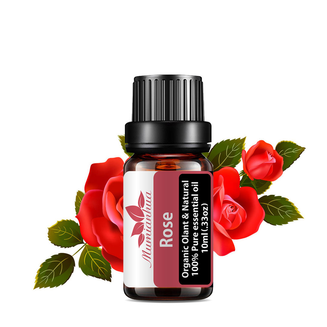 MSDS Facial Essential Oil Rose Essential Oil 100% Pure Rose Essential Oil Beauty and Care the Skin Wholesale Bulk Low Price