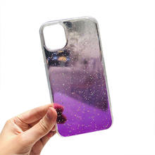 2020 Girly Model Shiny Dazzling For iPhone 11Pro Max Resin Starry Sky Gradient TPU Phone Case