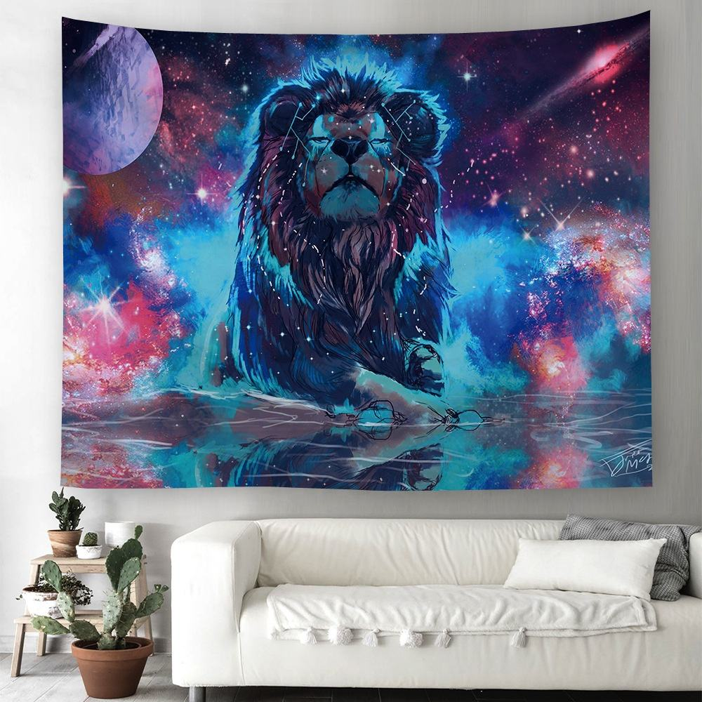 Instagram Style Psychedelic Art Marble Colorful Natural Landscape Trippy Tapestry For Home Decor