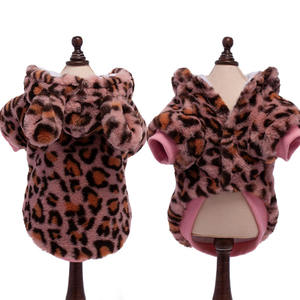Groothandel Leopard Puppy Pet Play Outfits Luxe Kat Kleding Grappige Hond Jassen