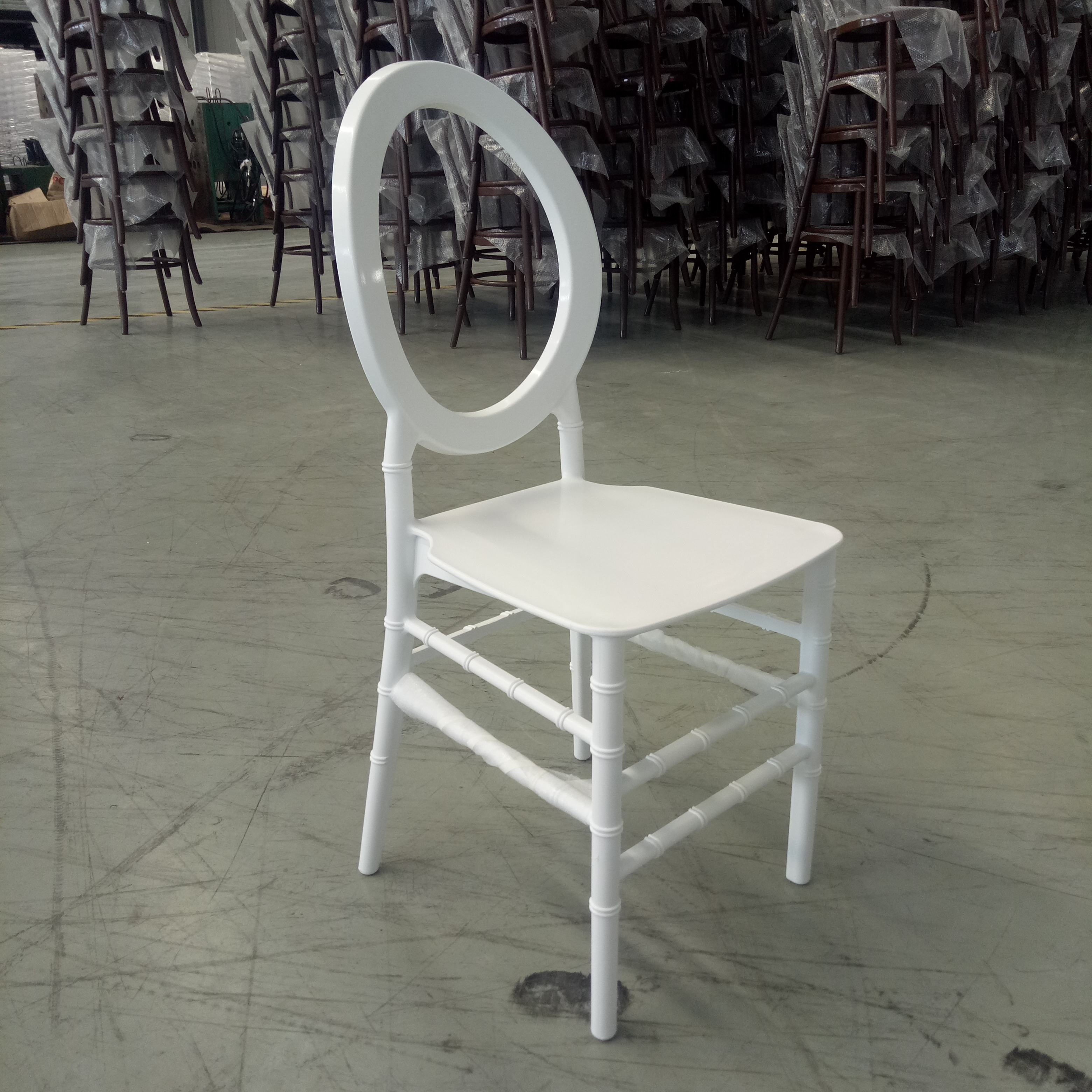 Resin plastic O chair event party rental chair for hotel wedding banquet and out door