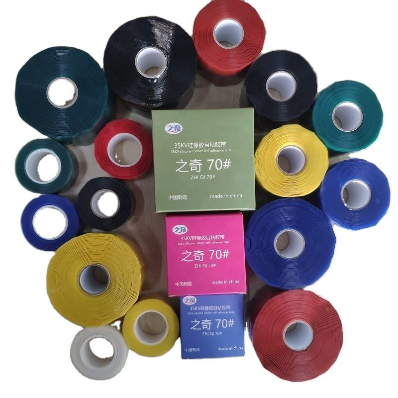 silicone rubber material insulation heat resistant waterproof silicon rubber fusion emergency self-adhesive tape for pipe hose