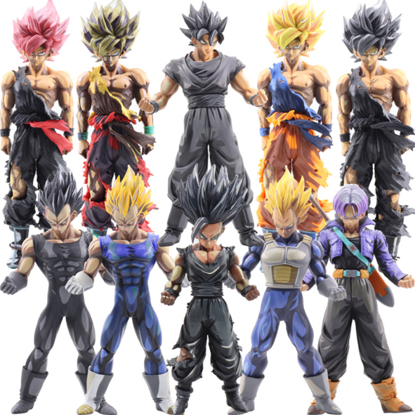 Collectible plastic pvc broly action figure goku aangepaste fabriek groothandel speelgoed japanse 1/4 3d cartoon dragonball z anime figuur