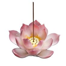Factory Direct Marketing Customizing the cheapest lotus shaped ceramic censer/gift flower Buddha