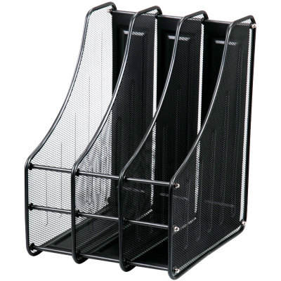 Office desktop storage supplies metal wire groups of magazine rack information rack bar information box