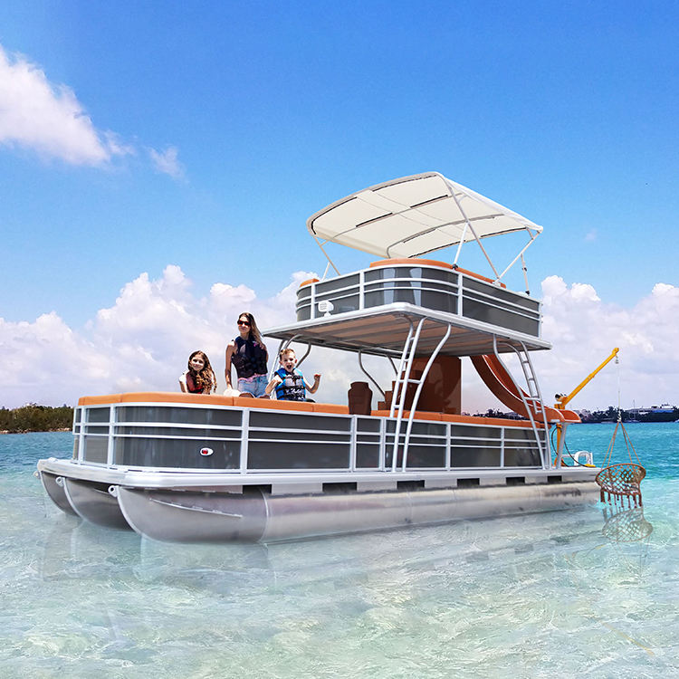 KinOcean 30ft Luxury Aluminum Party Pontoon Boat