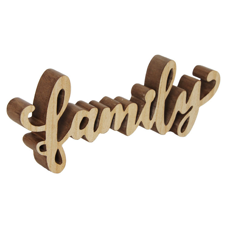 Jinn Home Family Wood Sign Home Wall Decorations Family Word Art Wood Cutout Wall Art Unfinished Family Wooden Letters