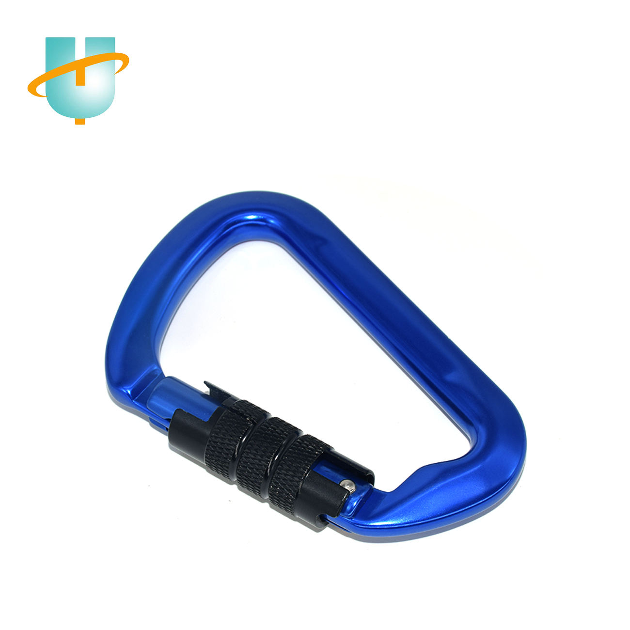 custom logo black 30kn factory price outdoor safety tools carabiner for rock climbing  hiking and bungee