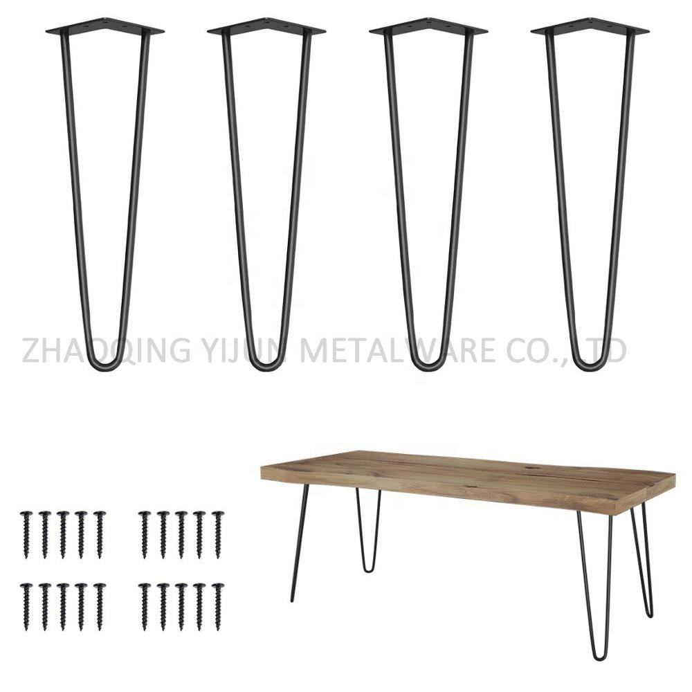 Popular china manufacturer coffee table rose gold steel metal hairpin table legs