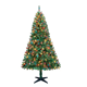 7.5Ft Pre-lit Artificial PE Christmas Tree Premium Spruce Hinged Tree with 650 LED Lights for USA
