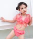Chinese factory custom design petal kids micro bikini for girls