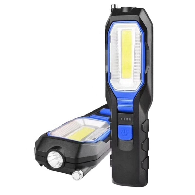 Outdoor using car repairing USB rechargeable Portable COB led work light with Magnetic
