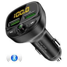 Free Shipping FLOVEME New Product Fm Transmitter Usb Car Charger Adapter Bluetooth Mp3 Music Player Dual Port Usb Car Charger