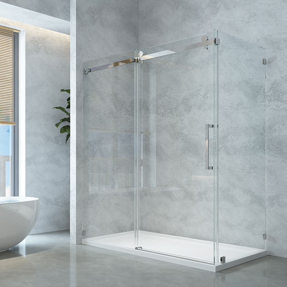 5 Years Warranty Bathroom Room Glass Stainless Steel Rectangular New Cabin Bathroom Sliding Door Frameless Shower Room