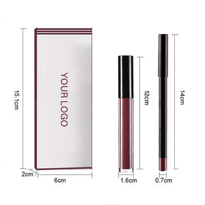SP07 Pigmented creme lip liners pencil vendor liquid lipstick and lip liner set