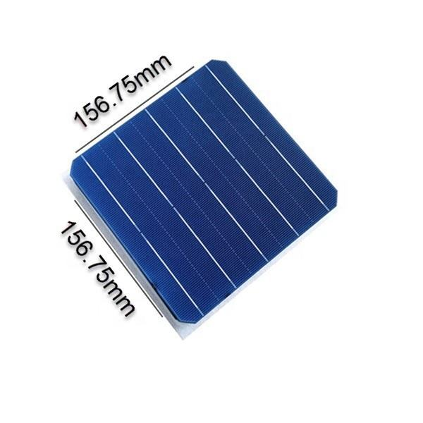 High Efficiency 156.75*156.75mm solar cell Bifacial double glass solar cell 5bb solar cell for sale