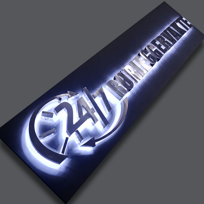 Outdoor Led Backlit Channel Letter Board Stainless Steel Metal Shop Name Illuminated Sign Board Designs For Hotel