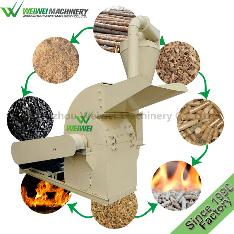 Weiwei waste biomass wood sawdustmachine agricultural waste mill wood chipper grinder