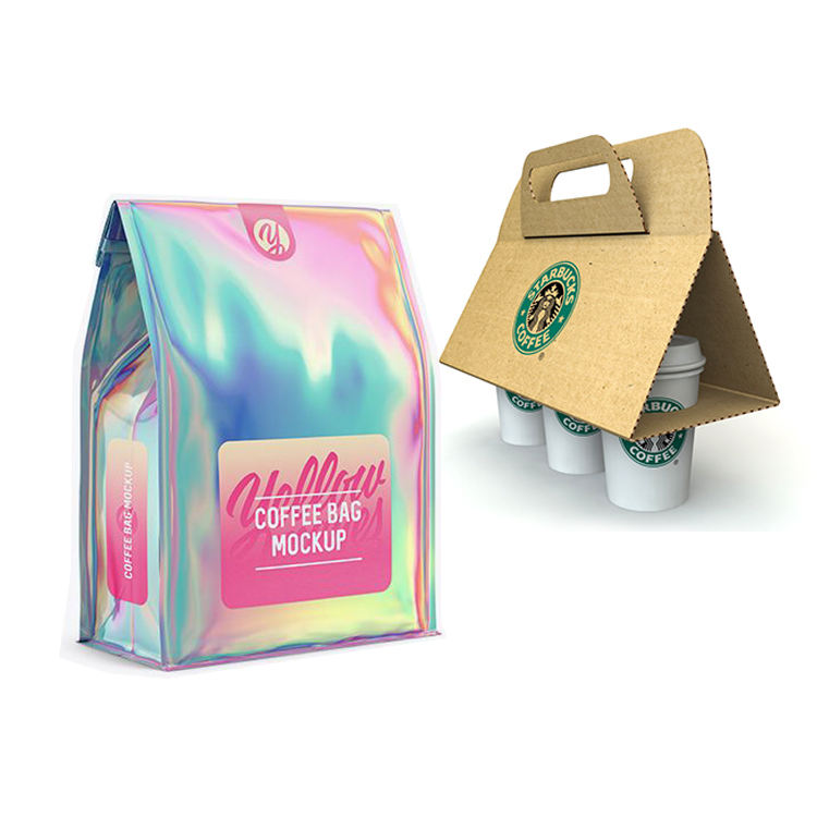 Custom Printed Box Flat Bottom Pouches Side Gusset 250グラム340グラム500グラム1000グラムPlastic Mylar Foil Packaging Bag With Valve For Coffee