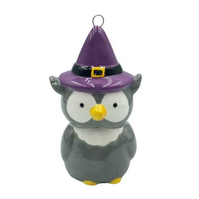 Halloween decoración de cerámica para el hogar, piezas para la venta al por mayor a <span class=keywords><strong>casa</strong></span> adorno con animal en forma de