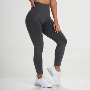 Women Seamless Ribbed Fitness Leggings High Waisted Workout Sports Leggings Manufacturer