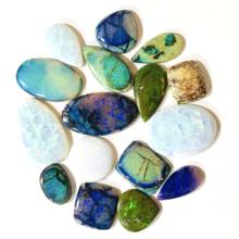 Natural Rainbow Sterling Opal Free Size USA Stone Cabochons for Jewelry Ornaments