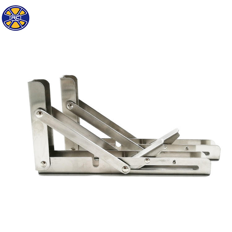 Heavy Duty Furniture Shelf Triangle Folding Steel Metal Angle Table Support Bracket