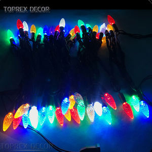 Natal Dekorasi LED String Lampu Strawberry Lampu Benang C6 Lampu Natal LED