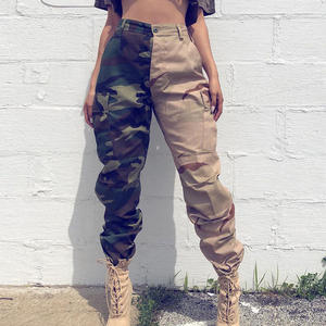 Summer Casual Ladies Overall Trouser Camouflage Printed Long Women Cargo Pants
