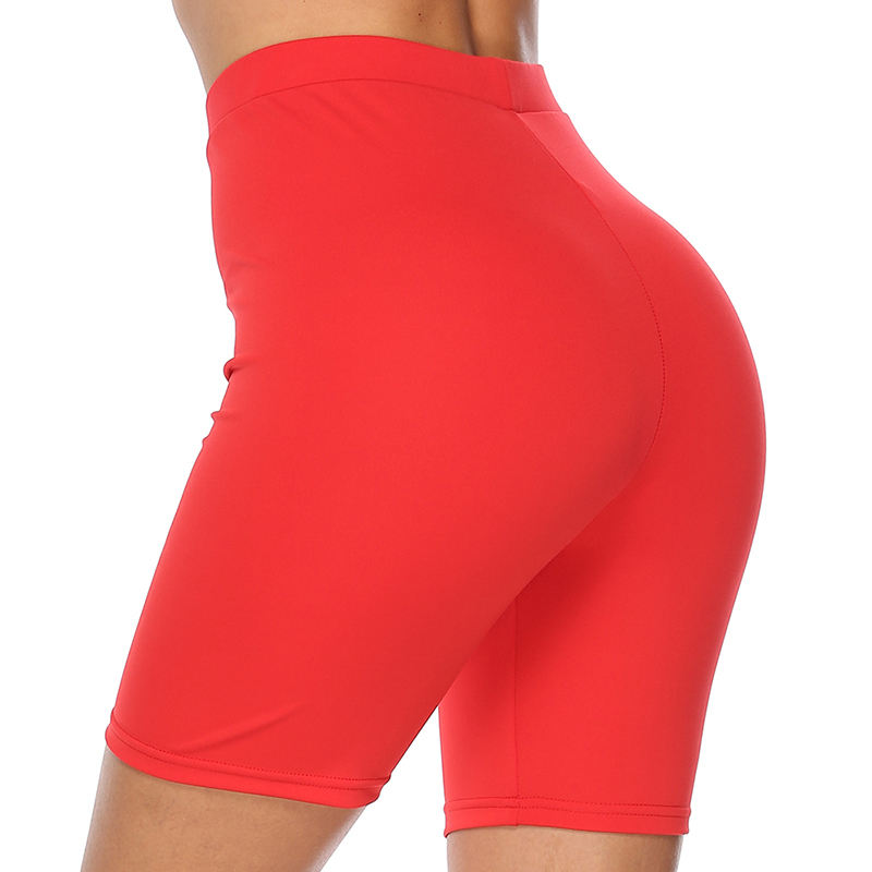 Wholesale High Waist Nylon Gym Sports Running Custom Tight Women Compression Shorts