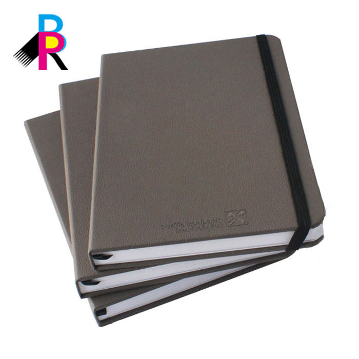 Wholesale Custom PU Leather Hardcover Daily Focus Planner Notebook Printing
