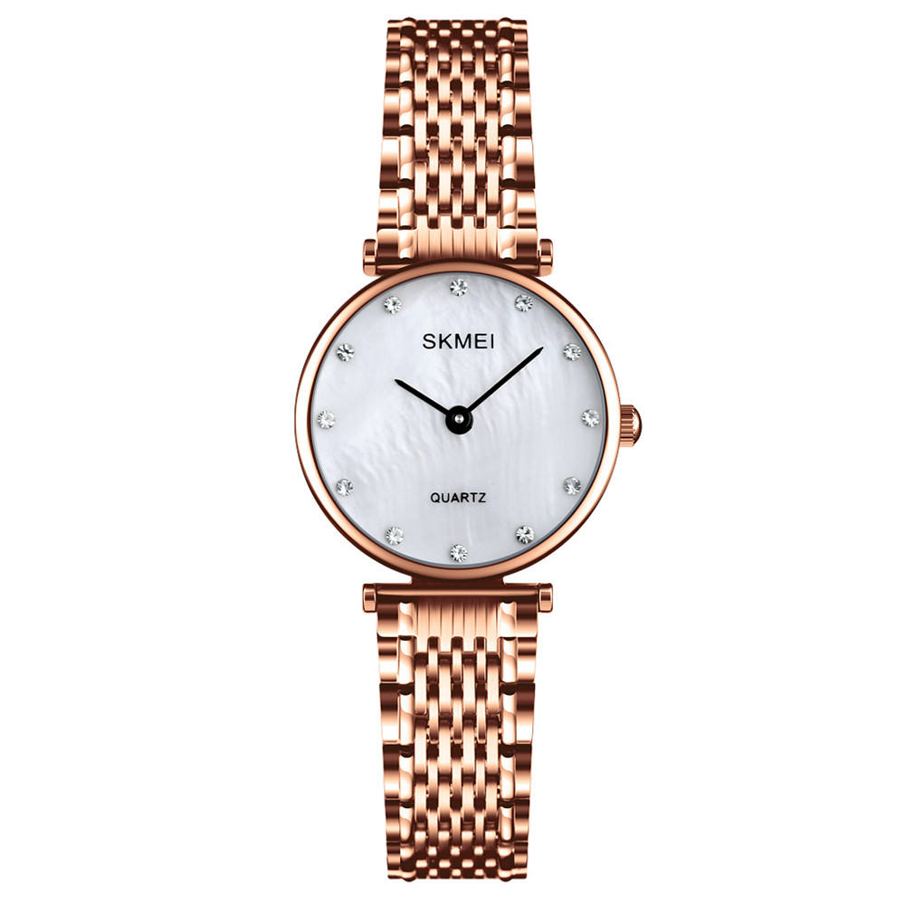 luxury SKMEI Q026 japan movt quartz 316 stainless steel bezel wrist watch for women