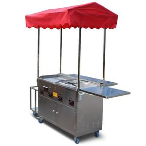 Professional street food cart Mobile Kitchen Food Truck with equipped in mobile food trailer hot dog cart grill