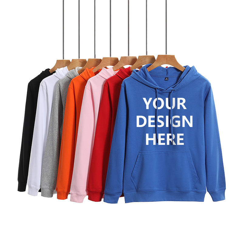 82% Cotton Custom Hoodie Printing Embroidered Blank Pullover Hoodie