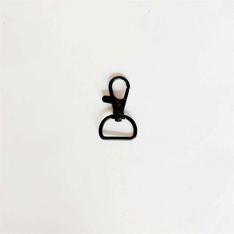 wholesale black craft swivel lobster clasp dog hook 20mm for lanyard finding