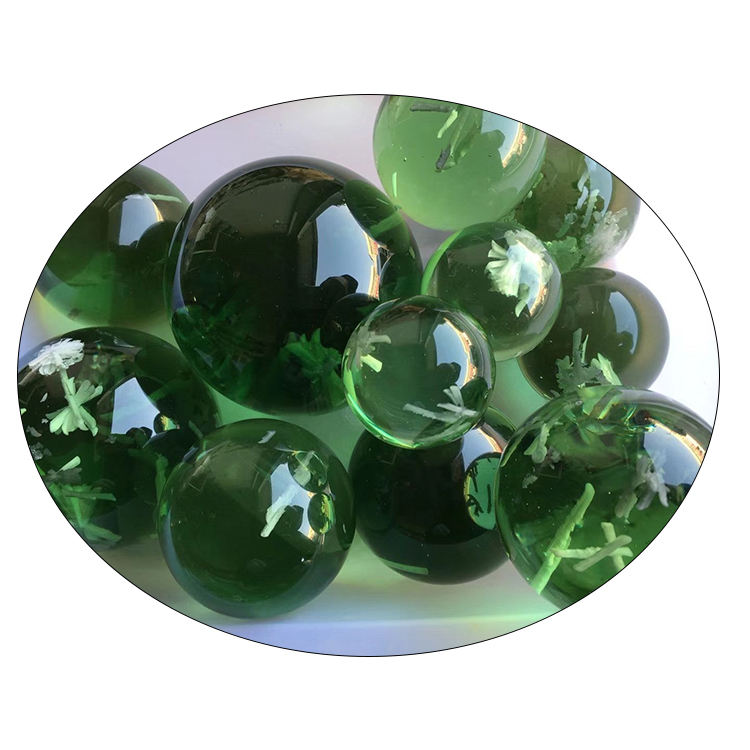 wholesale Natural green glass sphere for sale