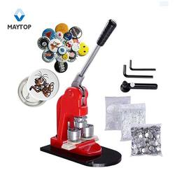 DIY Metal Buttons Maker Round Badges Punch Press Machine for