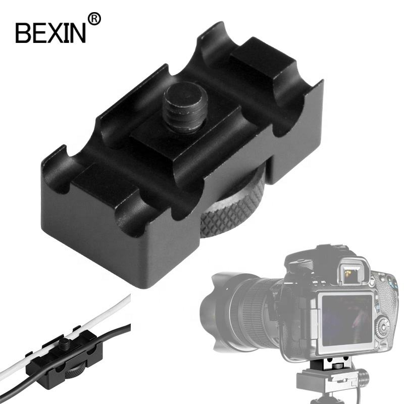 BEXIN DSLR camera accessories aluminum 1/4 hole 6mm 8mm DSLR digital camera USB cable clip wire closet clamp cord wire holder