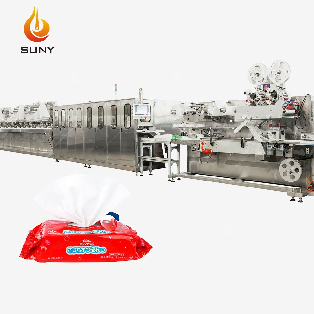 Full Automatic Baby Wet Wipes Machine Wet Tissue Machine
