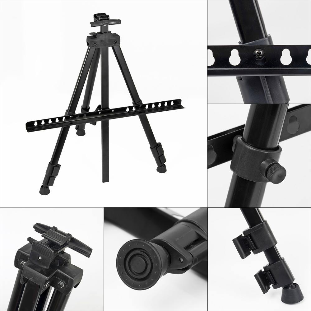 Metal Art Easel Tripod Stand with Black Bag