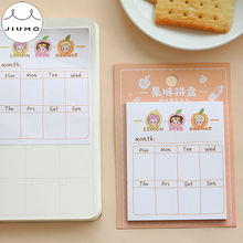 30pcs/lot 6 Designs Girlish Style Diary Weekly Plan Memo Pads Sticky Notes Writing Memo Pads School Office Supplies JIUMO