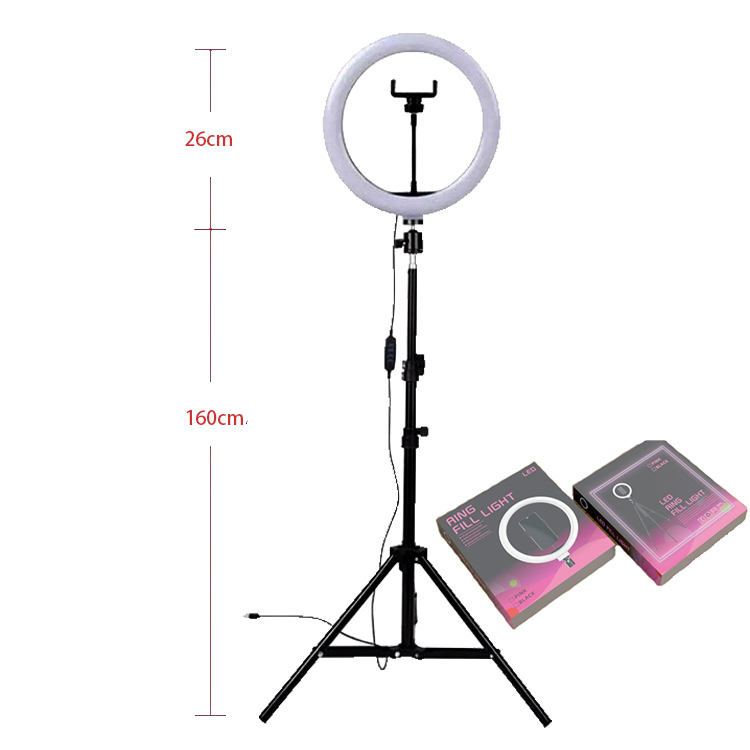 "10"" Ring Light with Tripod Stand - Dimmable Selfie Ring Light LED Camera Ringlight with Tripod and Phone Holder for Live Stream"