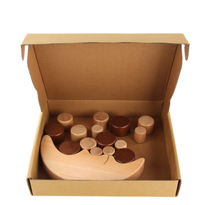Promotion Intelligence Wooden Toy Eco-friendly wooden block keep balance toy moon balance block