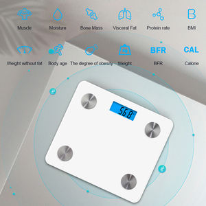 High precision black tempered Glass personal bluetooth electric bathroom body weighing scale